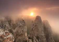 Piękni widoki Krymskie góry Fotografia Stock