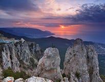 Piękni widoki Krymskie góry Zdjęcia Royalty Free
