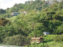 Piękni wzgórza w Filipiny obraz royalty free