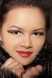 piękno azjatykcia zimy portret kobiety Zdjęcia Stock