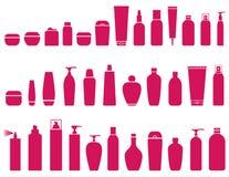 Piękno butelki kosmetyczny set royalty ilustracja