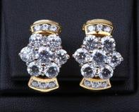 Piękno diamentu kolczyki. Zdjęcia Royalty Free