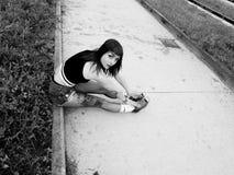 Piękno dziewczyny portret z piegami Fotografia Stock