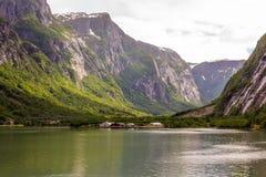 Piękno fjords Zdjęcia Royalty Free