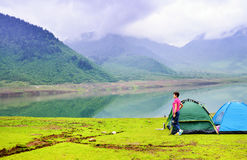 Piękno góry, jeziora Fotografia Stock