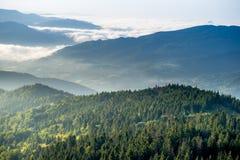 piękno góry jutrzenkowe prawdziwe Zdjęcia Stock