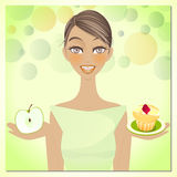 Piękno i Dieta royalty ilustracja