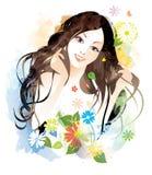 piękno kobieta royalty ilustracja