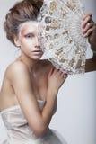 Piękno kobieta. Rocznika retro styl, renaissance Obraz Royalty Free