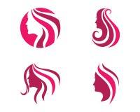 Piękno kobiety ikony loga szablon Obrazy Royalty Free