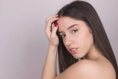 Piękno kosmetyków naturalny portret zdjęcia stock