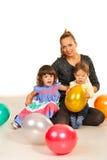 Piękno matka z dzieciakami Fotografia Stock