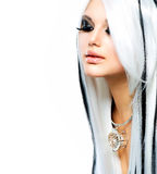Piękno mody gotyka dziewczyna Zdjęcia Royalty Free