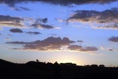 Piękno niebo na wieczór na górze Zdjęcia Stock