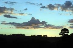 Piękno niebo na wieczór na górze Zdjęcie Stock