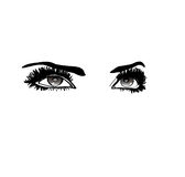 Piękno oczy Zdjęcie Stock