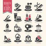 Piękno opieki ikony set Obrazy Royalty Free