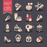 Piękno opieki ikony set Zdjęcia Royalty Free
