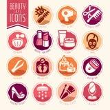 Piękno opieki ikony set Fotografia Royalty Free