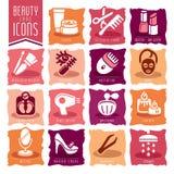 Piękno opieki ikony set Zdjęcie Royalty Free