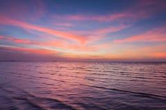 Piękno po zmierzchu niebo nad seacoast Obraz Stock