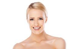 Piękno portret blond kobieta Fotografia Royalty Free