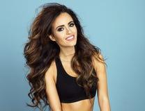 Piękno portret seksowna brunetki dziewczyna Zdjęcie Stock