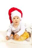 Piękno szefa kuchni dziecko z chlebem Obraz Stock