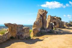 Piękno sztuka i natura Agrigento prowincja Obraz Royalty Free