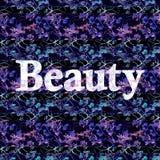 Piękno tekst Nad Ciemnym Kwiecistym wzorem Fotografia Royalty Free