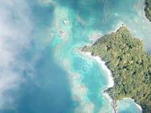 Piękno wyspa od nieba fotografia stock
