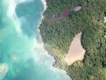 Piękno wyspa od nieba zdjęcia stock