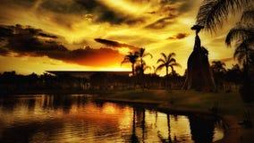 Piękno zmierzch w chmurnym dniu w Aguascalientes, México Obrazy Royalty Free
