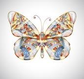 Piękny abstrakcjonistyczny motyl. Zdjęcie Stock