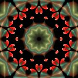 Piękny abstrakcjonistyczny ornament na czarnym odosobnionym tle Obraz Royalty Free