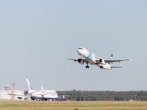 Piękny Aerobus A321-231 Egyptair lata Zdjęcie Royalty Free
