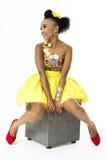 Piękny afrykanina model Zdjęcia Stock