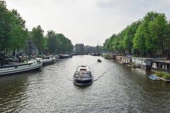 Piękny Amsterdam w Czerwu Obraz Royalty Free