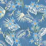Piękny artystyczny jaskrawy tropikalny wzór z egzotycznym lasem s Zdjęcia Stock