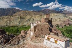 Piękny Basco monaster, punkt zwrotny Leh miasto, Ladakh, Jammu Ka Obrazy Royalty Free
