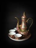 Piękny Benjarong teapot set Zdjęcie Stock