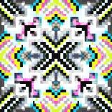 Piękny bezszwowy wzór barwioni piksle royalty ilustracja