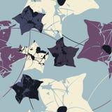 Piękny bezszwowy wzór z bellflowers Zdjęcia Royalty Free