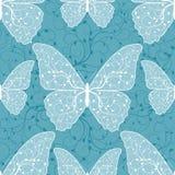 Piękny bezszwowy wzór z motylami Zdjęcie Royalty Free