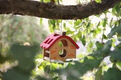 Pi?kny birdhouse na drzewie zdjęcie royalty free