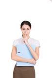 Piękny biznesowej kobiety habing sekret Zdjęcie Stock
