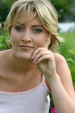 piękny blond portret Obrazy Royalty Free