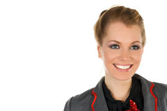 piękny blondie portret kobiety biznesu zdjęcie royalty free