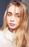 piękny blondynki dziewczyny portret Obrazy Royalty Free