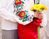 Piękny bridal bukiet w jaskrawych kolorach Zdjęcia Stock